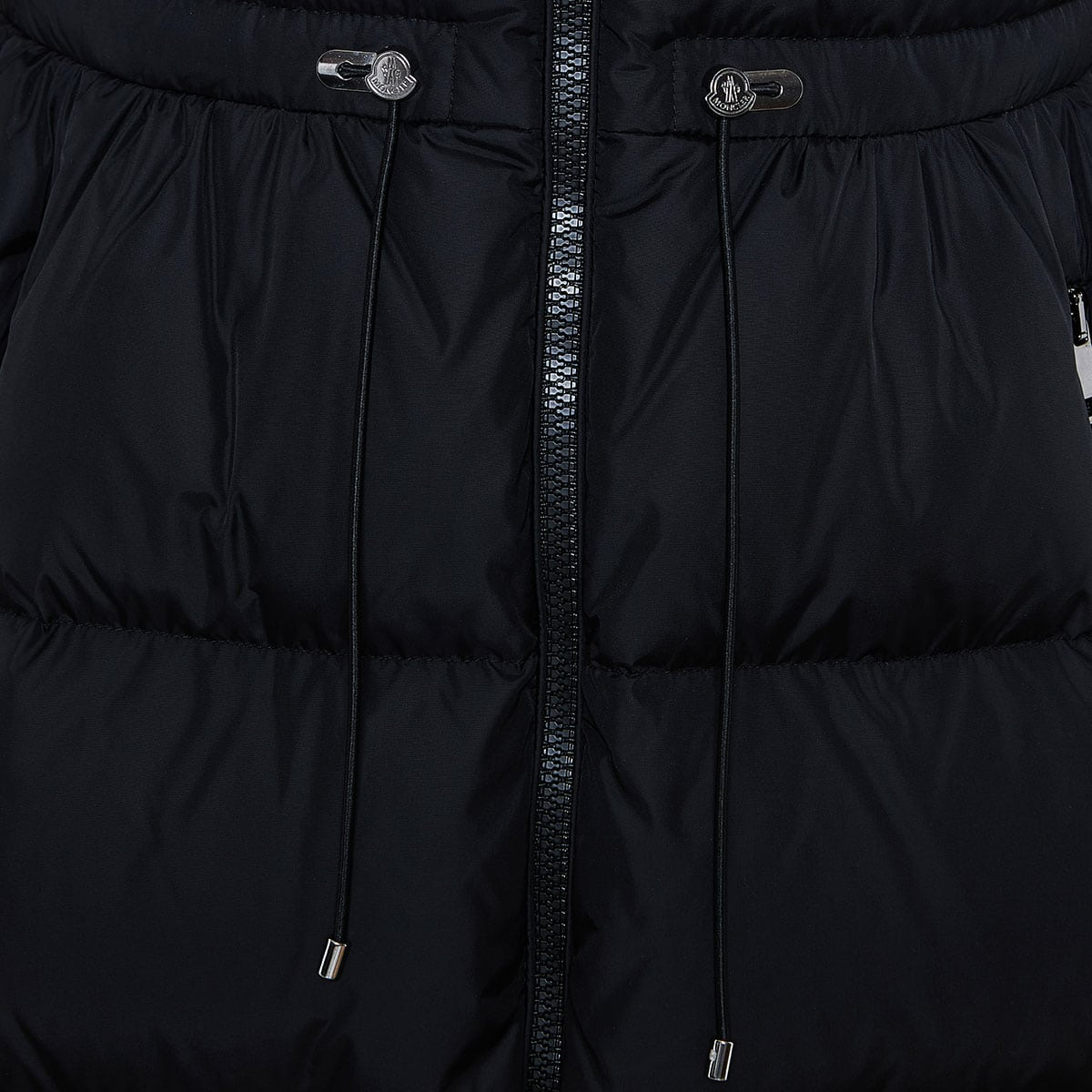 Long quilted puffer jacket