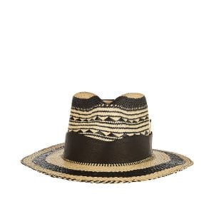 Vagues patterned straw hat