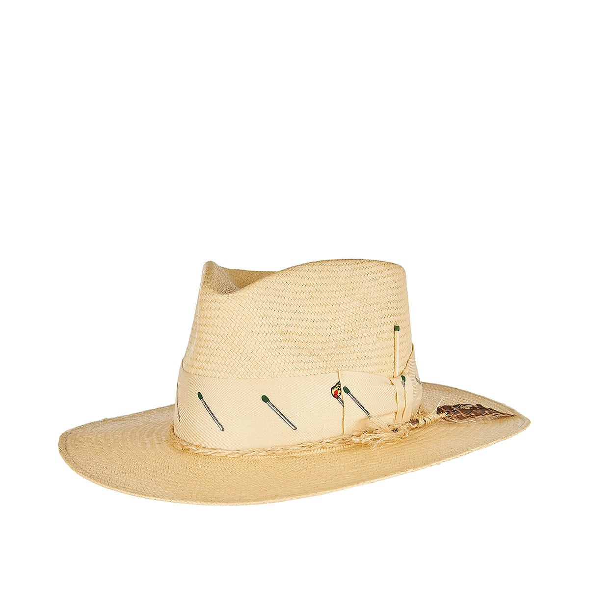 Pontillac straw fedora hat
