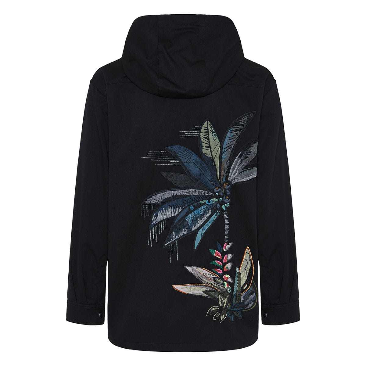 Mural Jungle embroidered pea coat