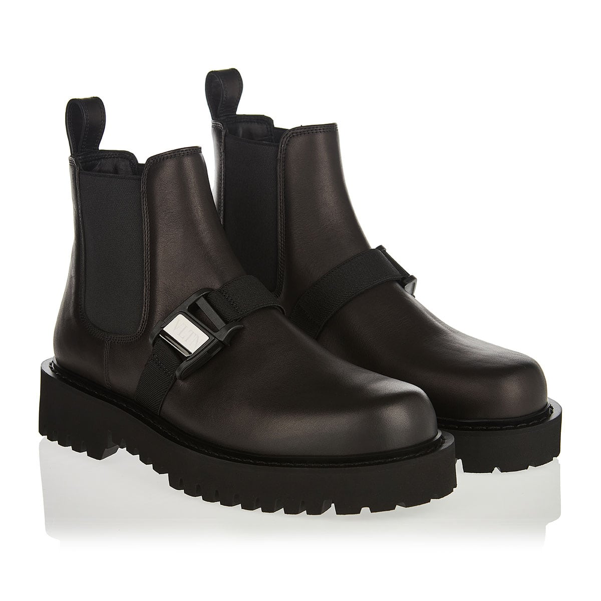 VLTN leather beatle boots