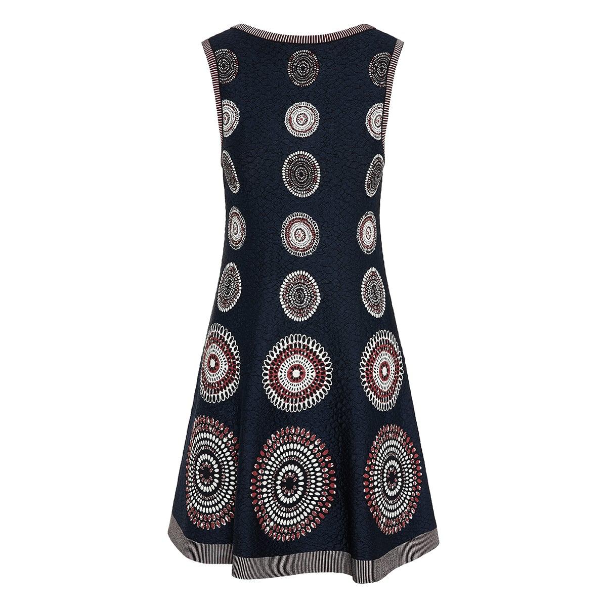Molukai patterned flared dress
