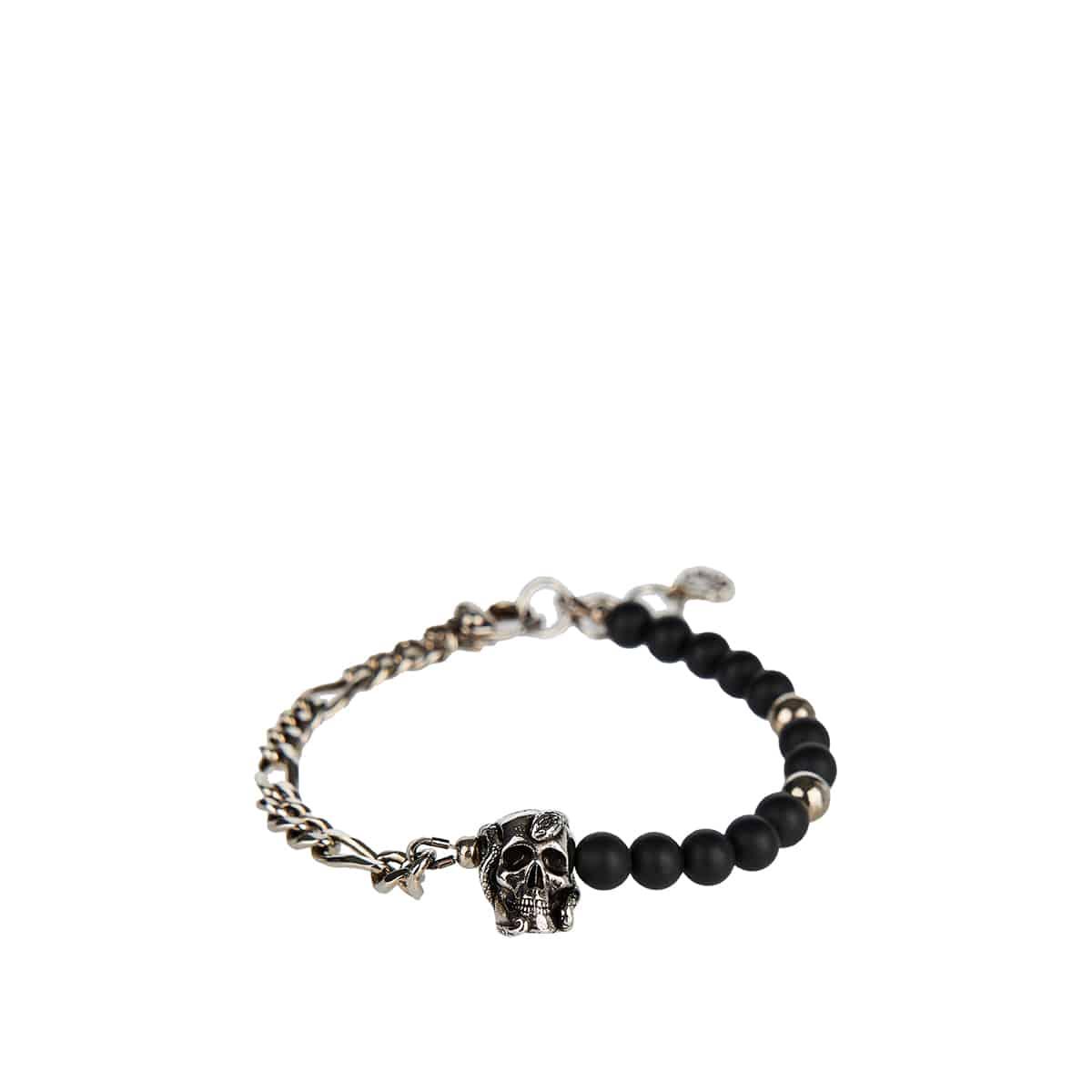 Beads chain skull bracelet