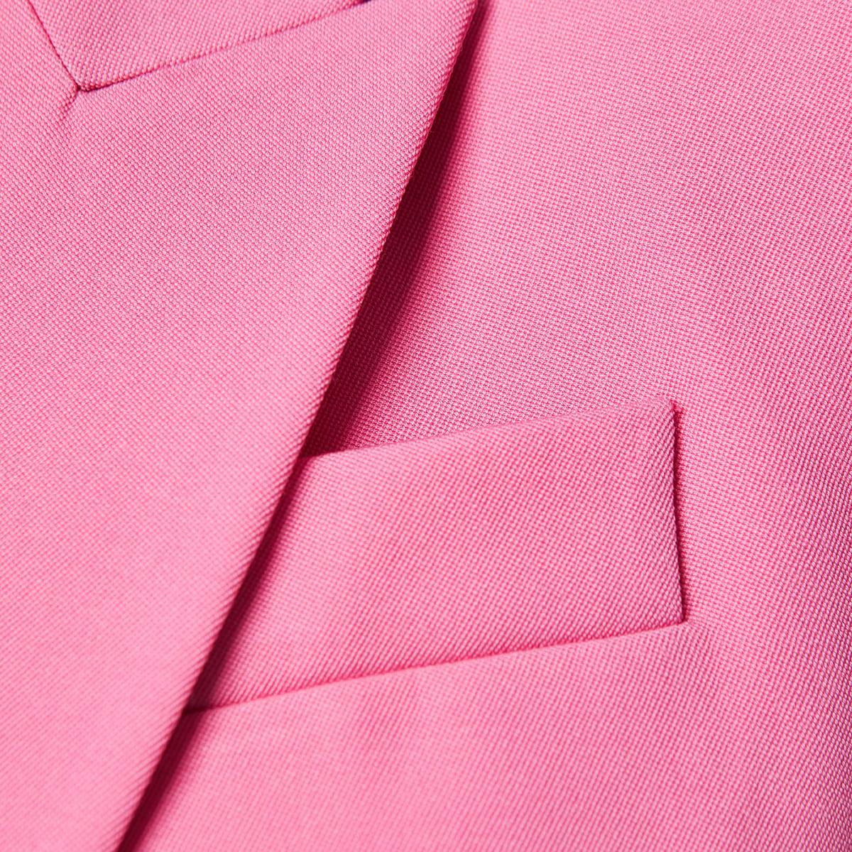 Single-breasted crepe blazer