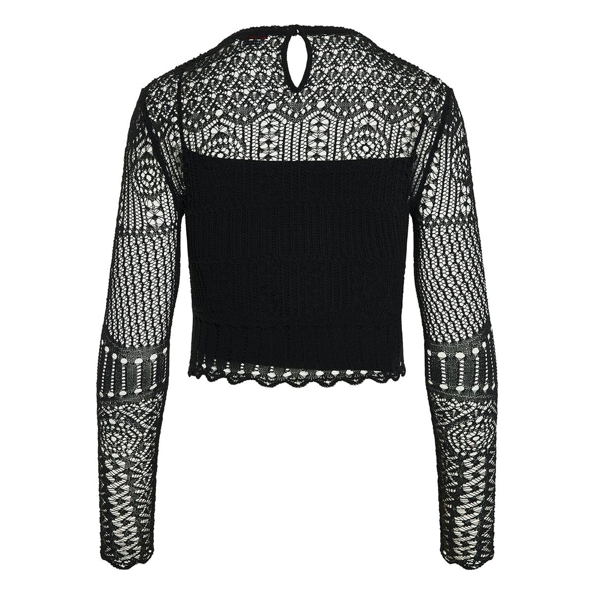 Crochet-knit cropped top