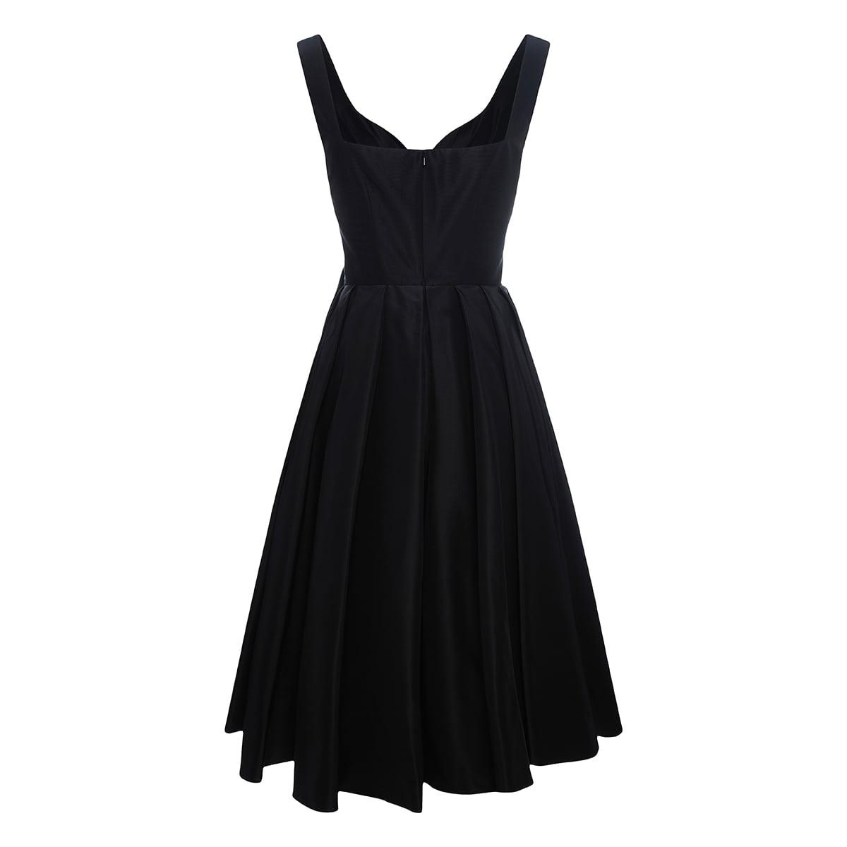 Draped pleated midi dress