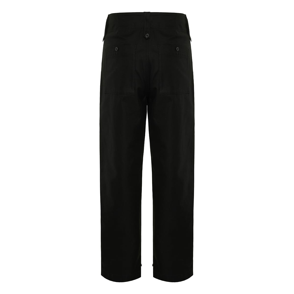Straight-leg cotton trousers
