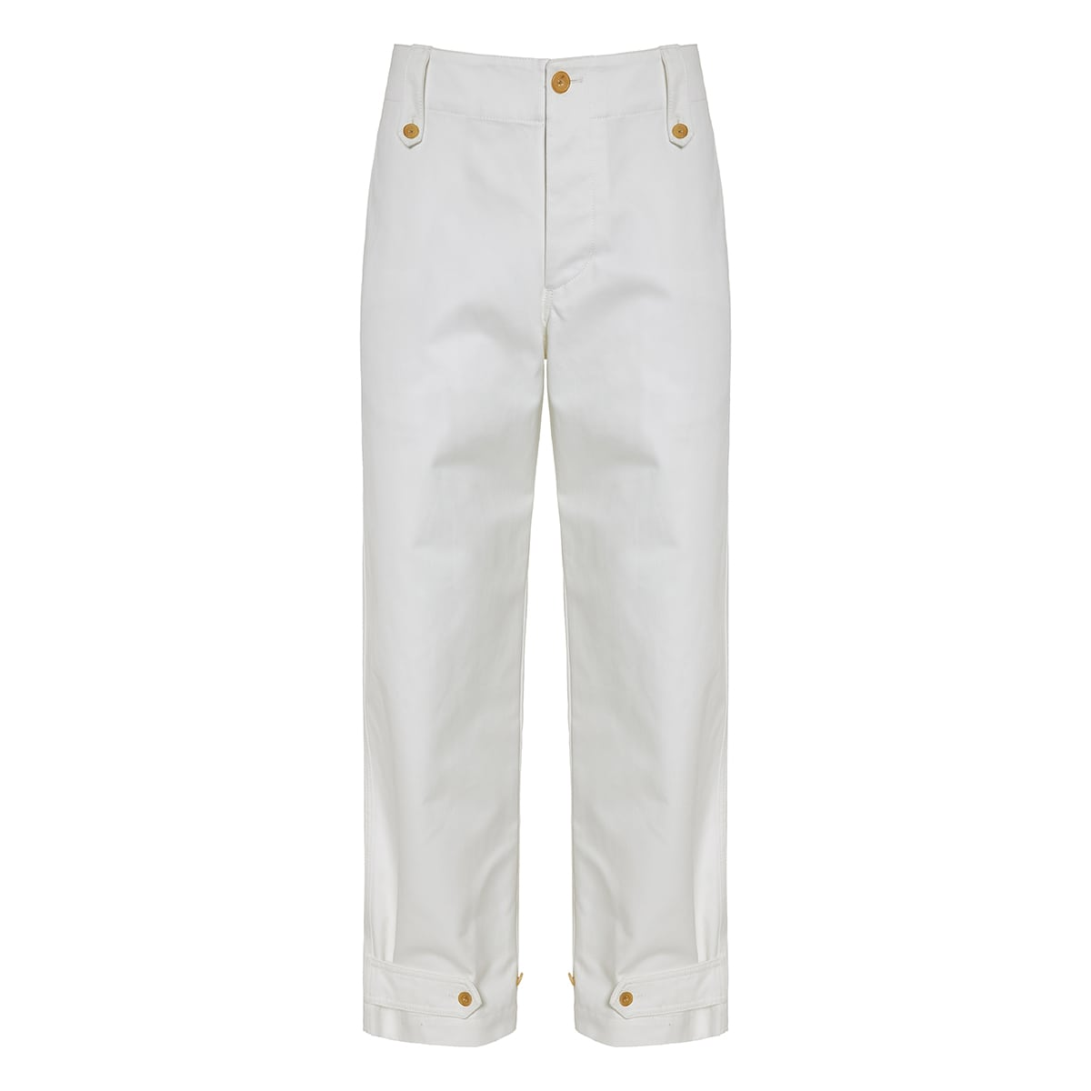 Straight-leg cotton trousersStraight-leg cotton trousers