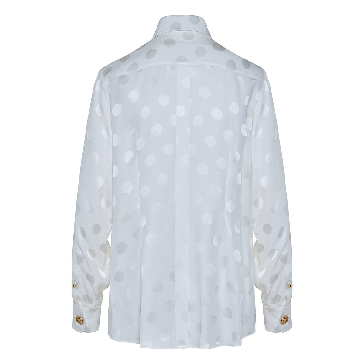 Polka-dot jacquard shirt