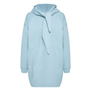 Oversized logo hoodie with ties