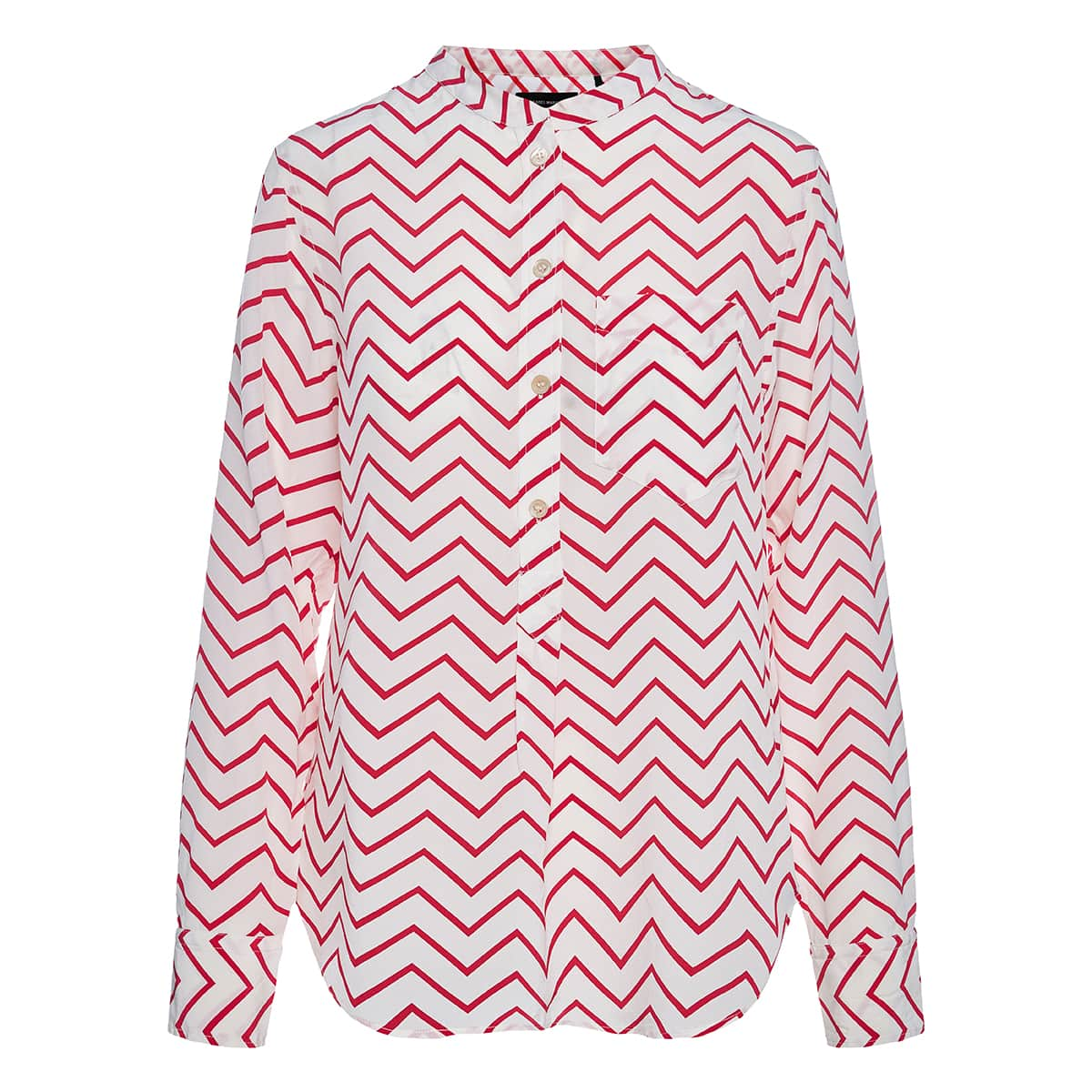 Chevron printed silk shirt