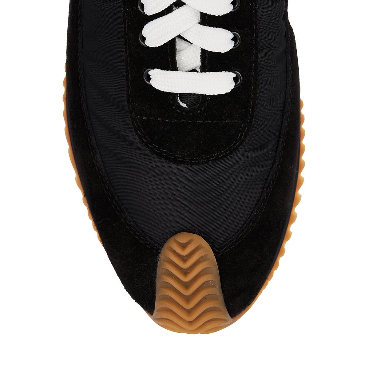 Flow Runner nylon and suede sneakers