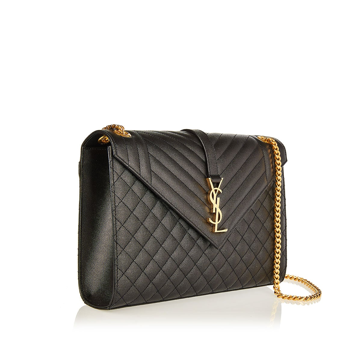 Envelope large quilted chain bag