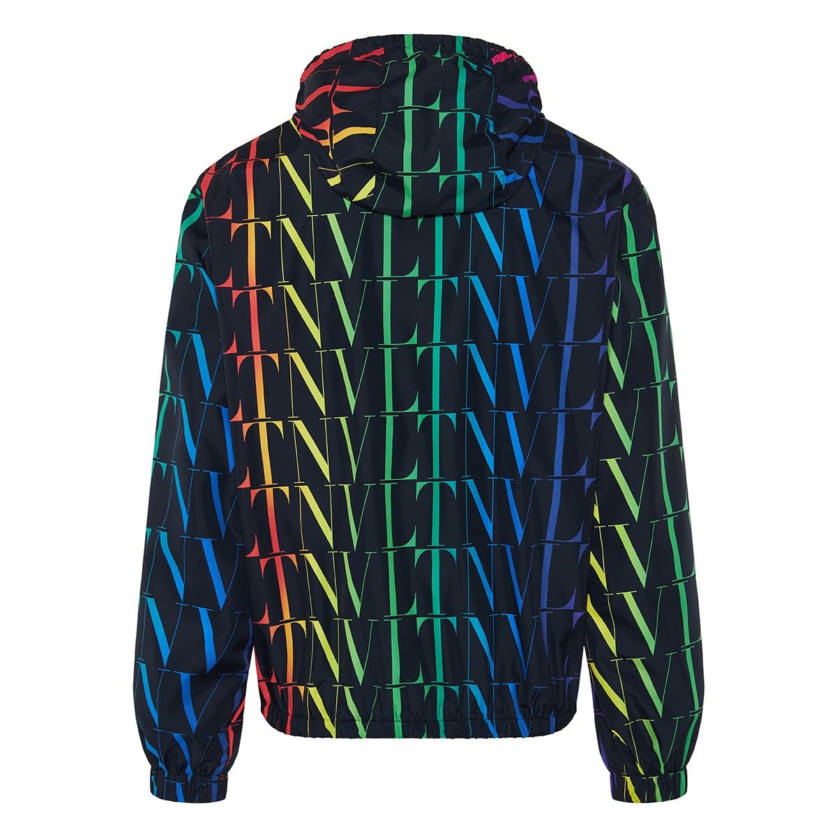 VLTN printed nylon jacket