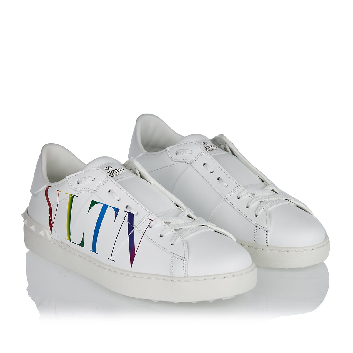 VLTN Open leather sneakers