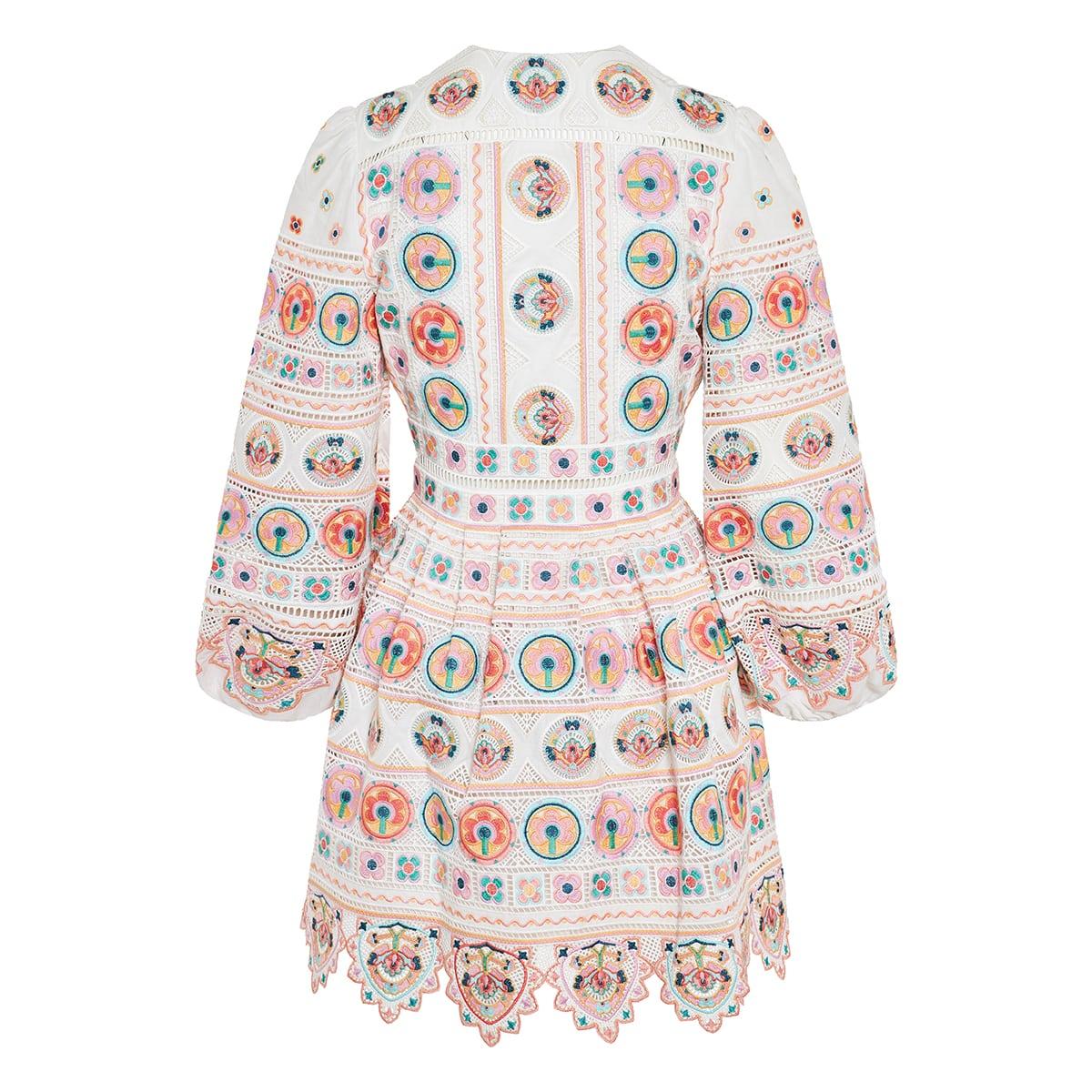 Brighton embroidered mini dress