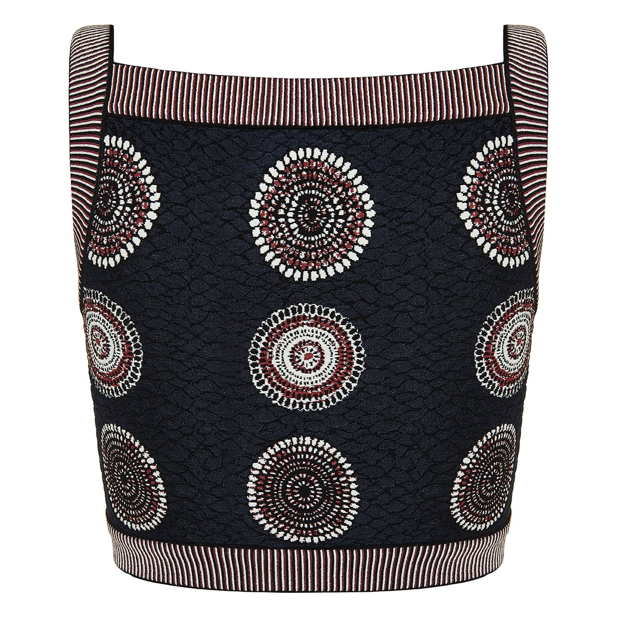 Molukai patterned cropped top
