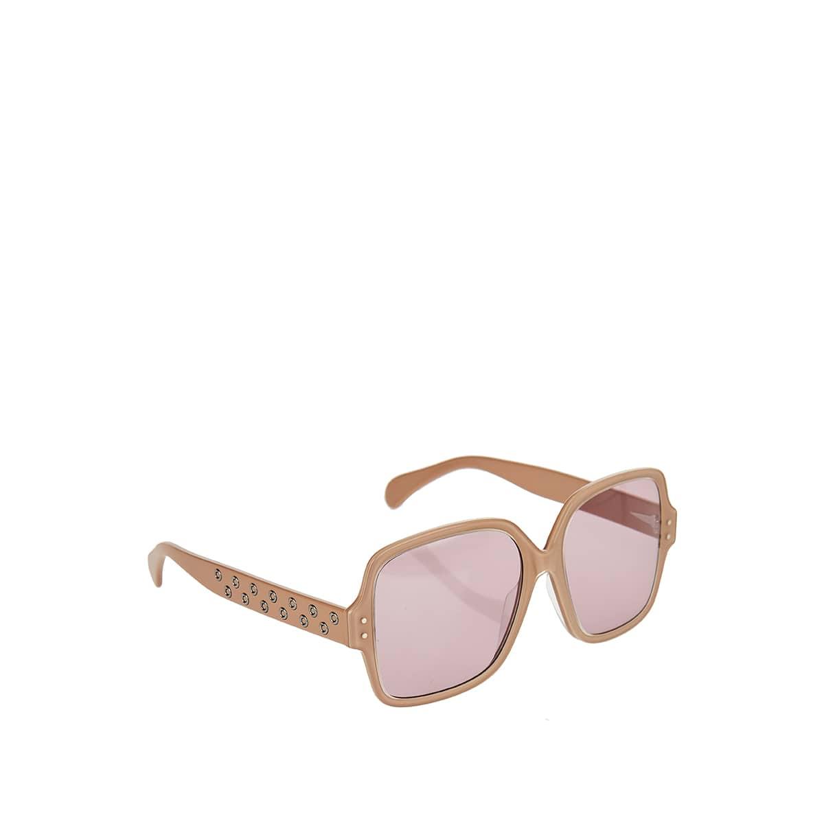Oversized square studded sunglasses