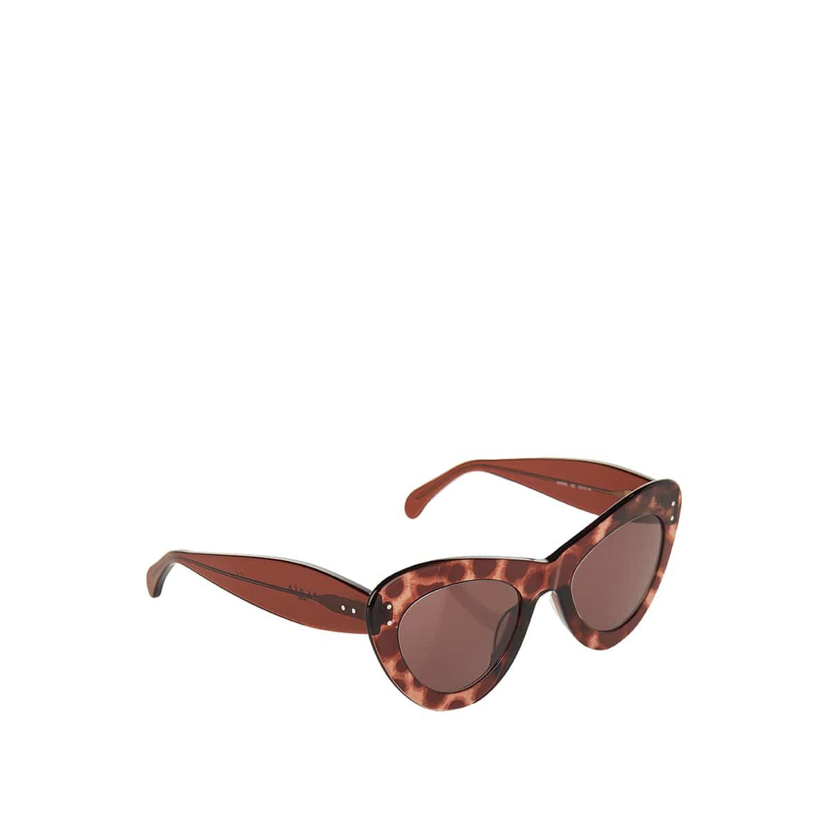 Leopard print acetate sunglasses