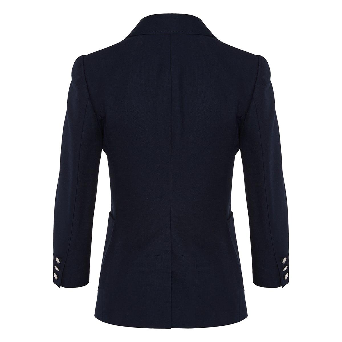 Bead-embellished cotton blazer