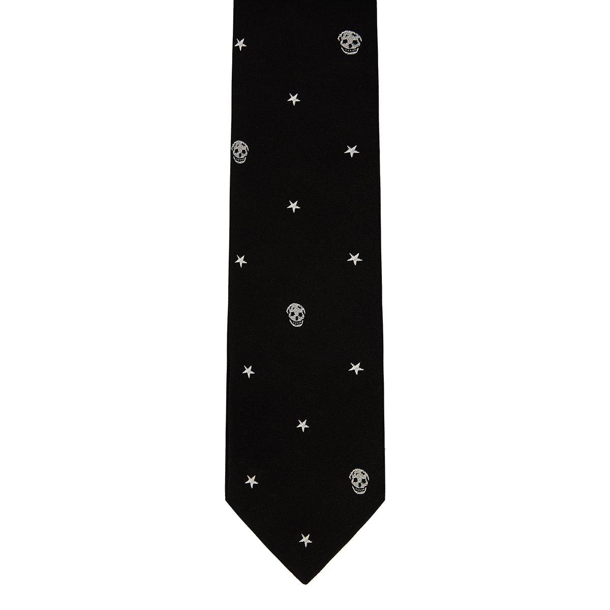 Skull printed tie