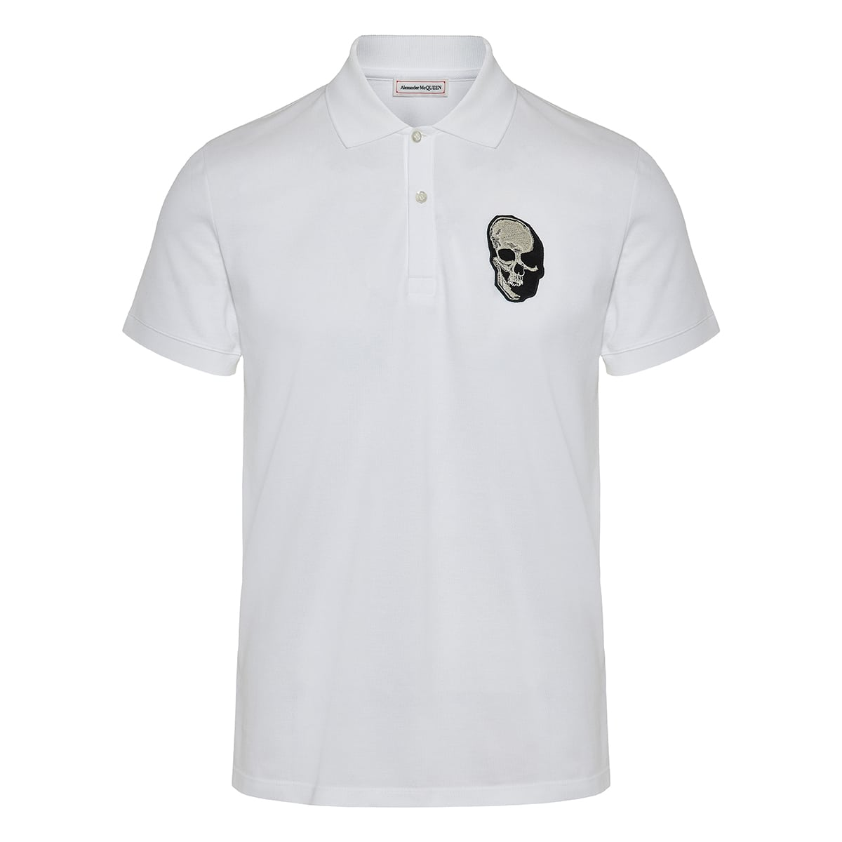 Skull-patch polo shirt