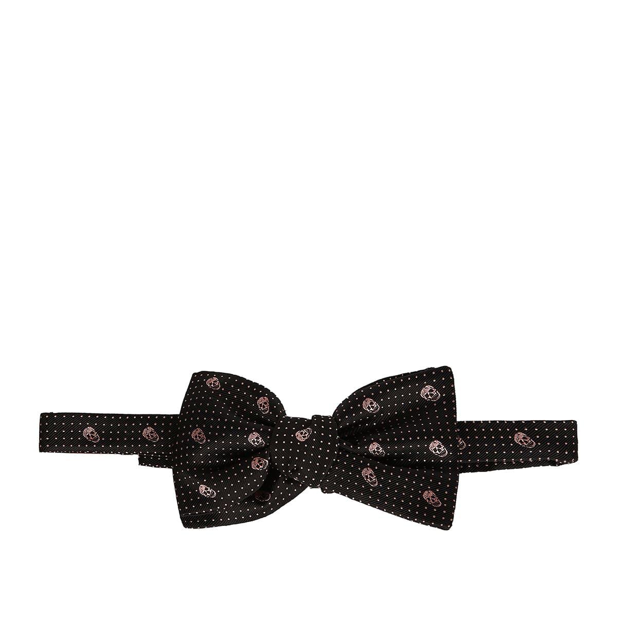 Skull printed bow tie