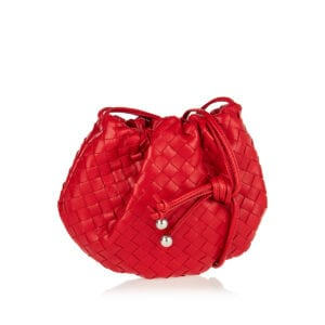 The Mini Bulb lntrecciato leather bag