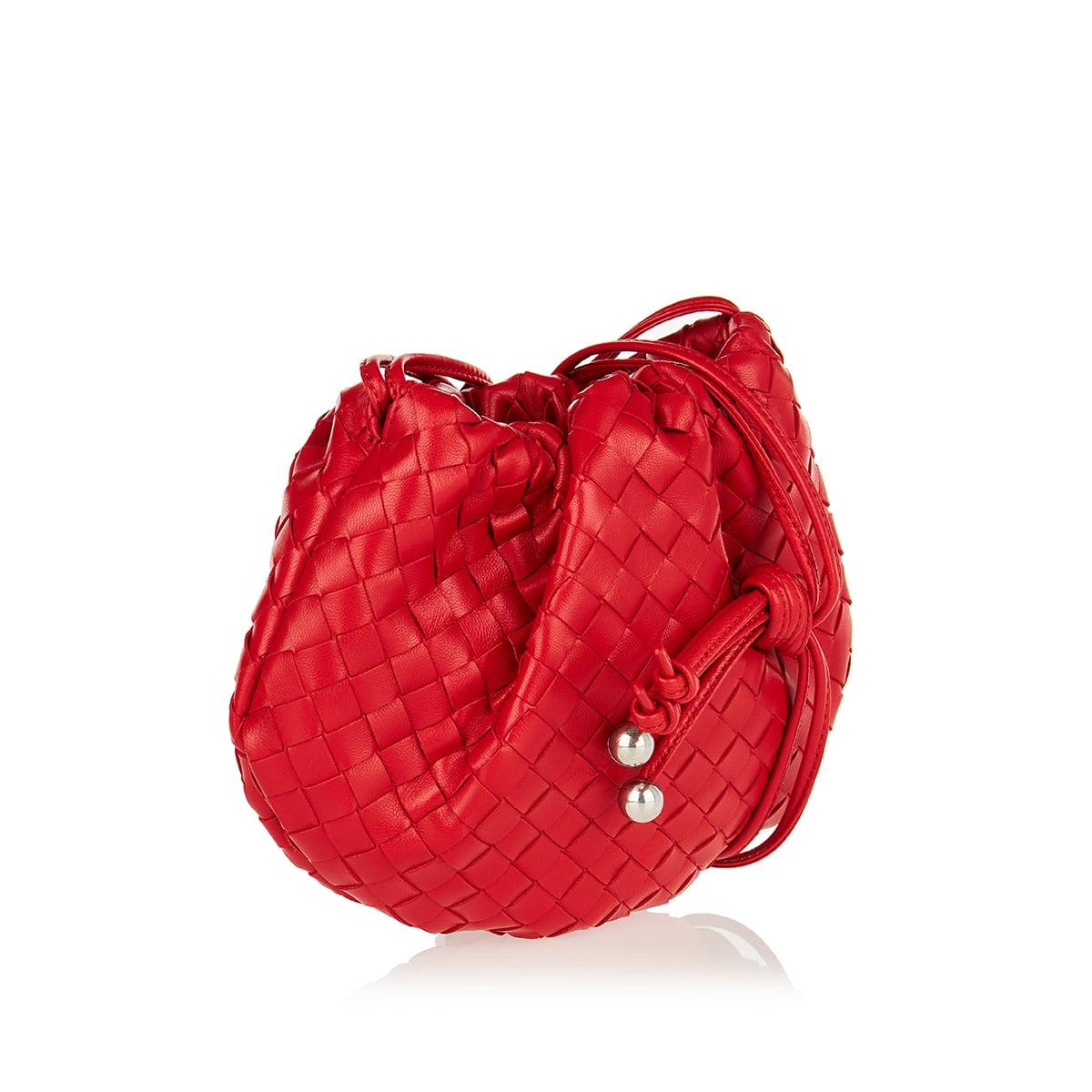 The Mini Bulb lntrecciato leather bag