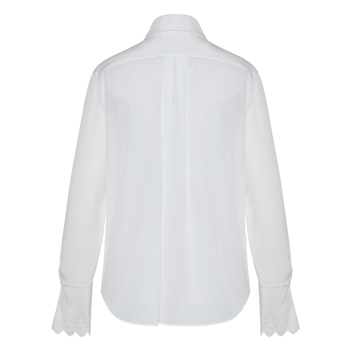 C embroidered silk shirt