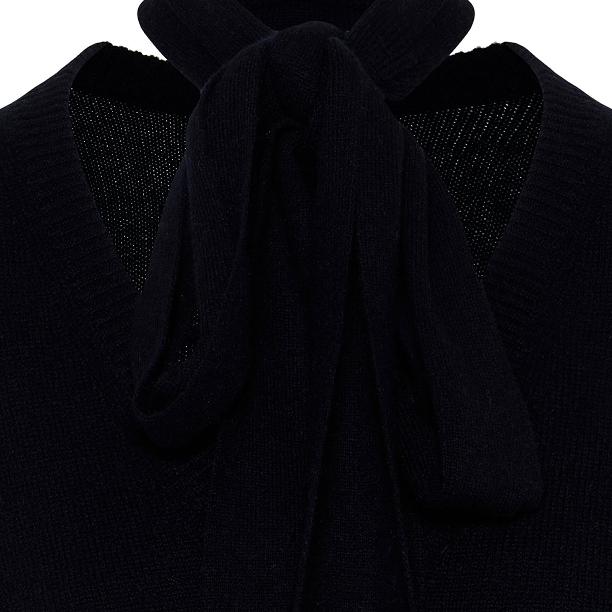 Bow-tie oversized cashmere sweater