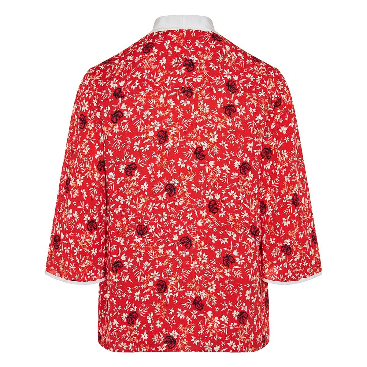 C floral bow-tie shirt