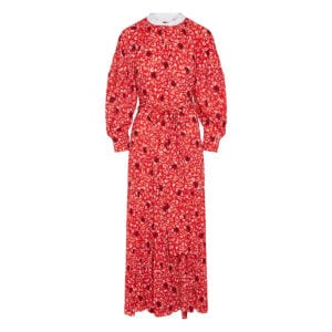 C floral long tiered dress
