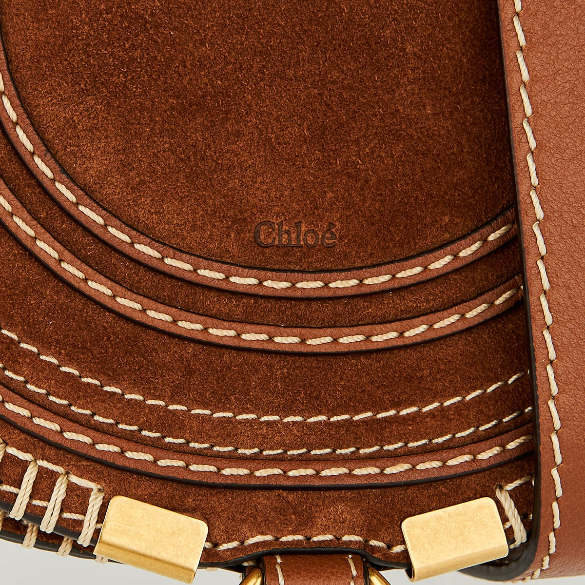 Marcie mini suede saddle bag