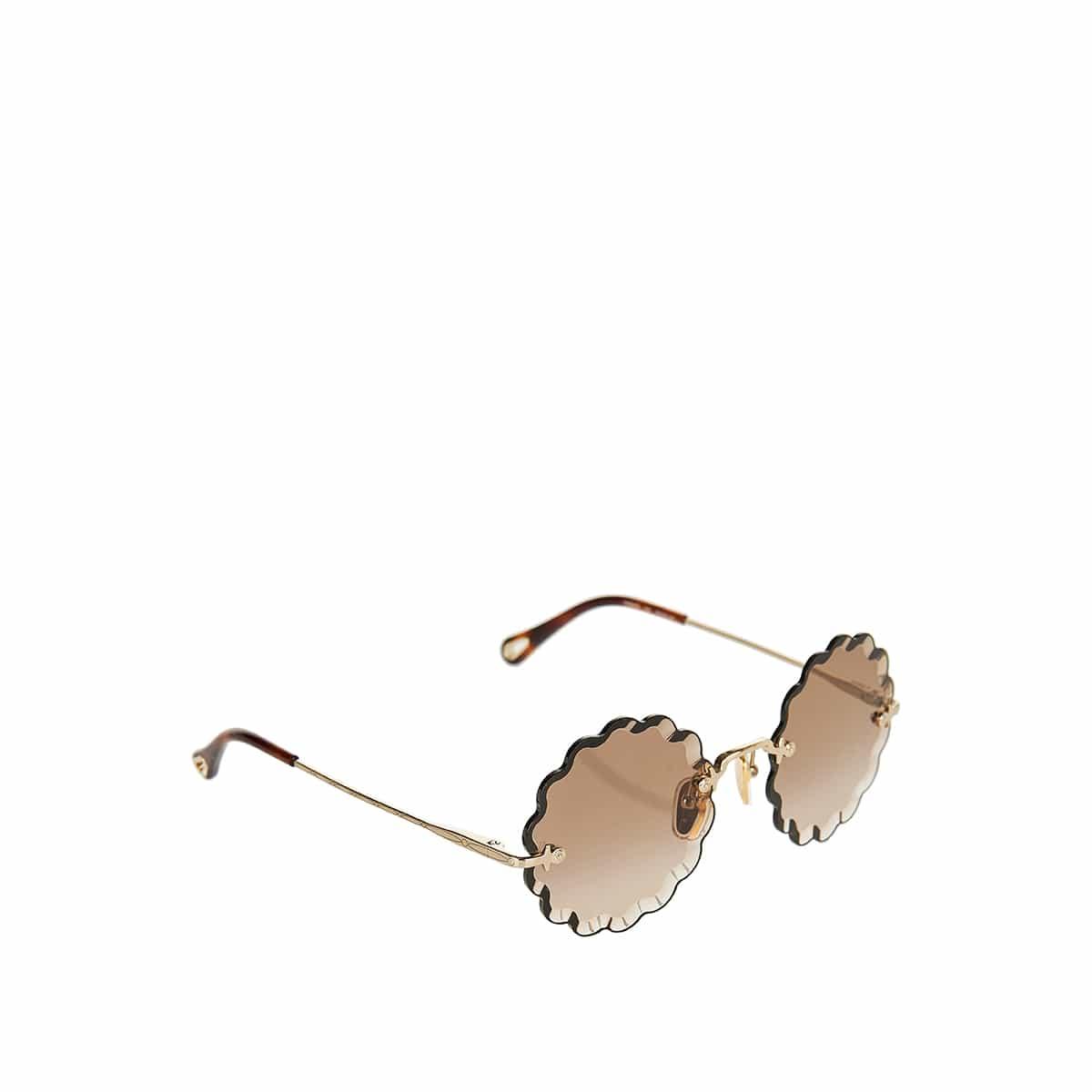 Rosie scalloped round sunglasses