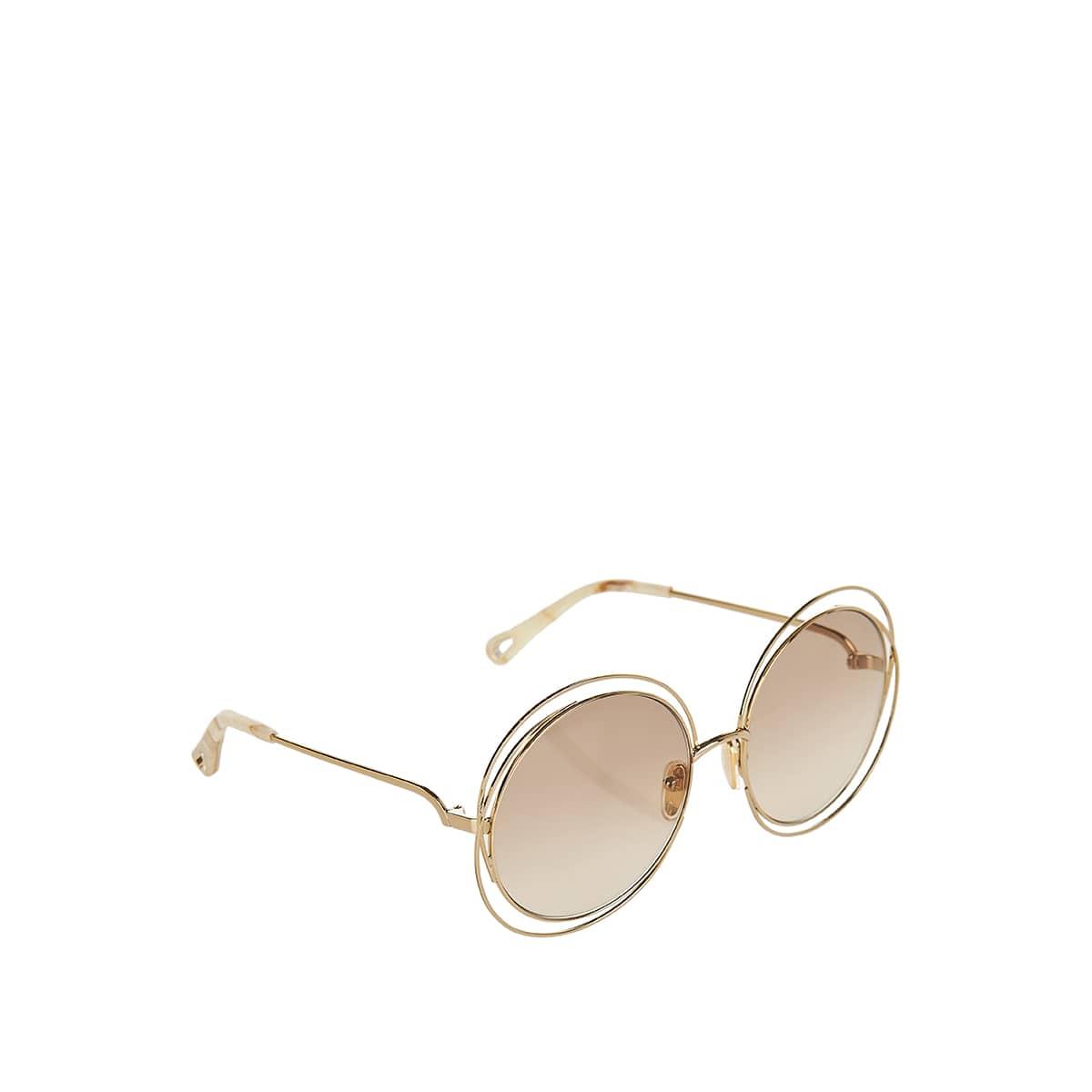 Oversized round metal sunglasses