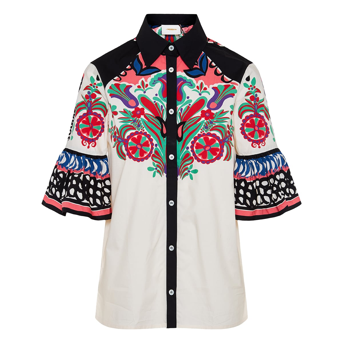 Choux printed poplin shirt
