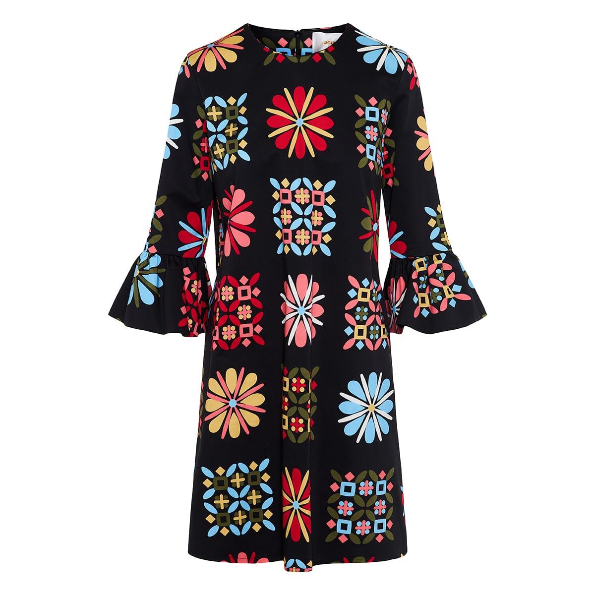 24/7 short printed dress