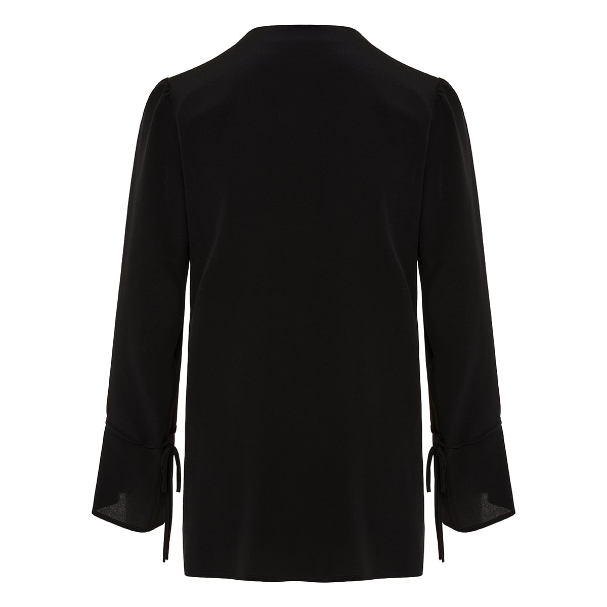 Silk blouse with ties