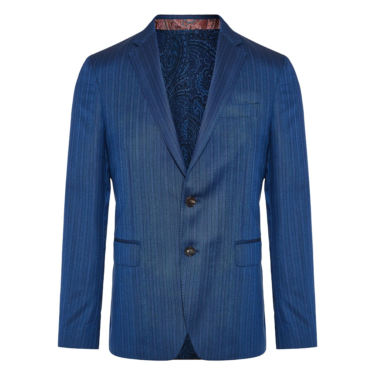 Two-piece striped wool suit