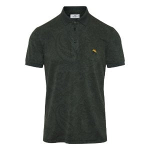 Paisley printed cotton polo shirt