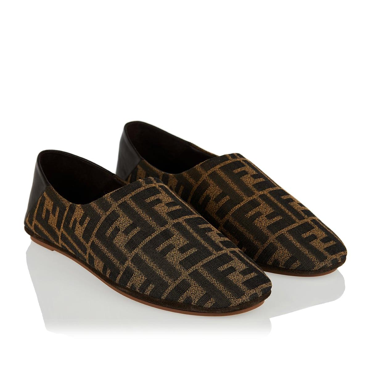 FF jacquard slippers