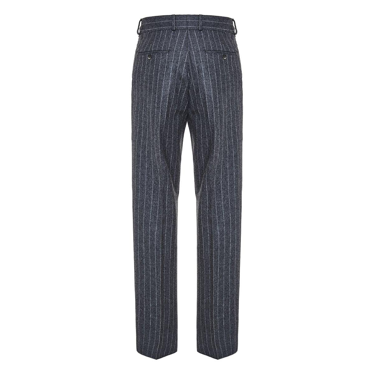 Pinstripe flannel trousers