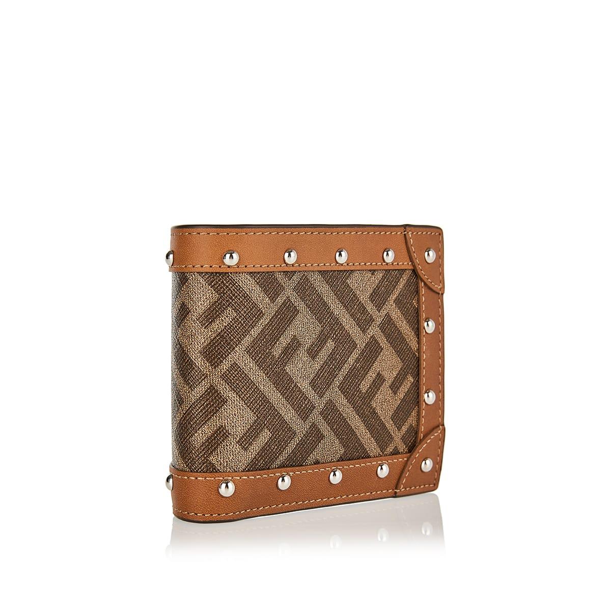 FF studded bi-fold wallet