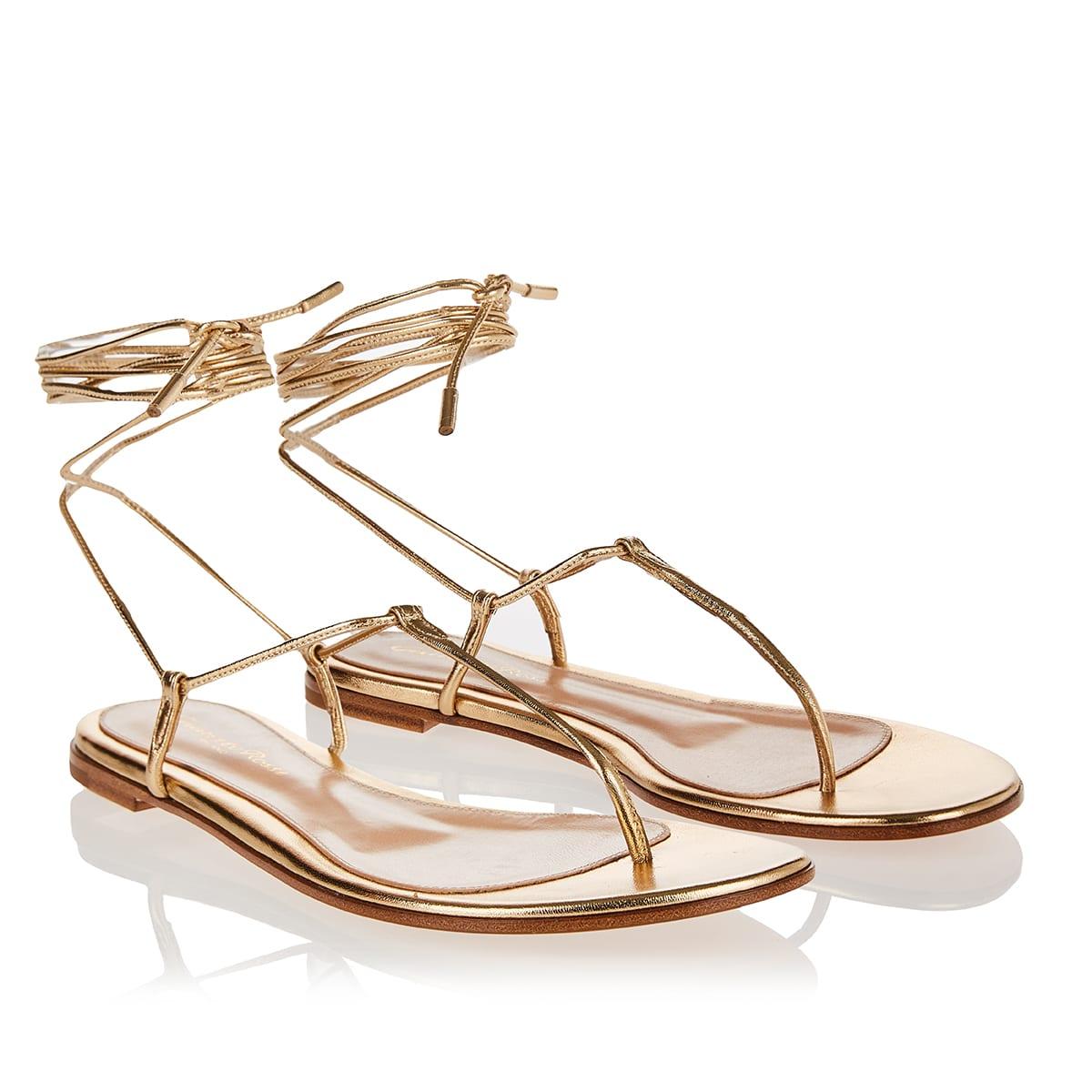 Gwyneth metallic thong sandals