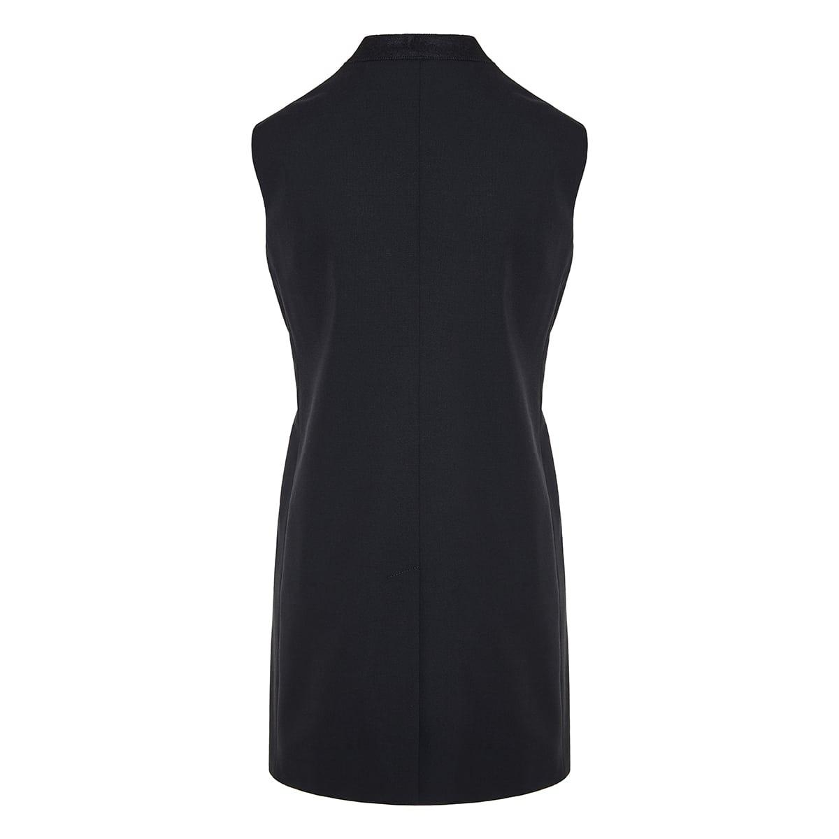 Chain-embellished sleeveless blazer