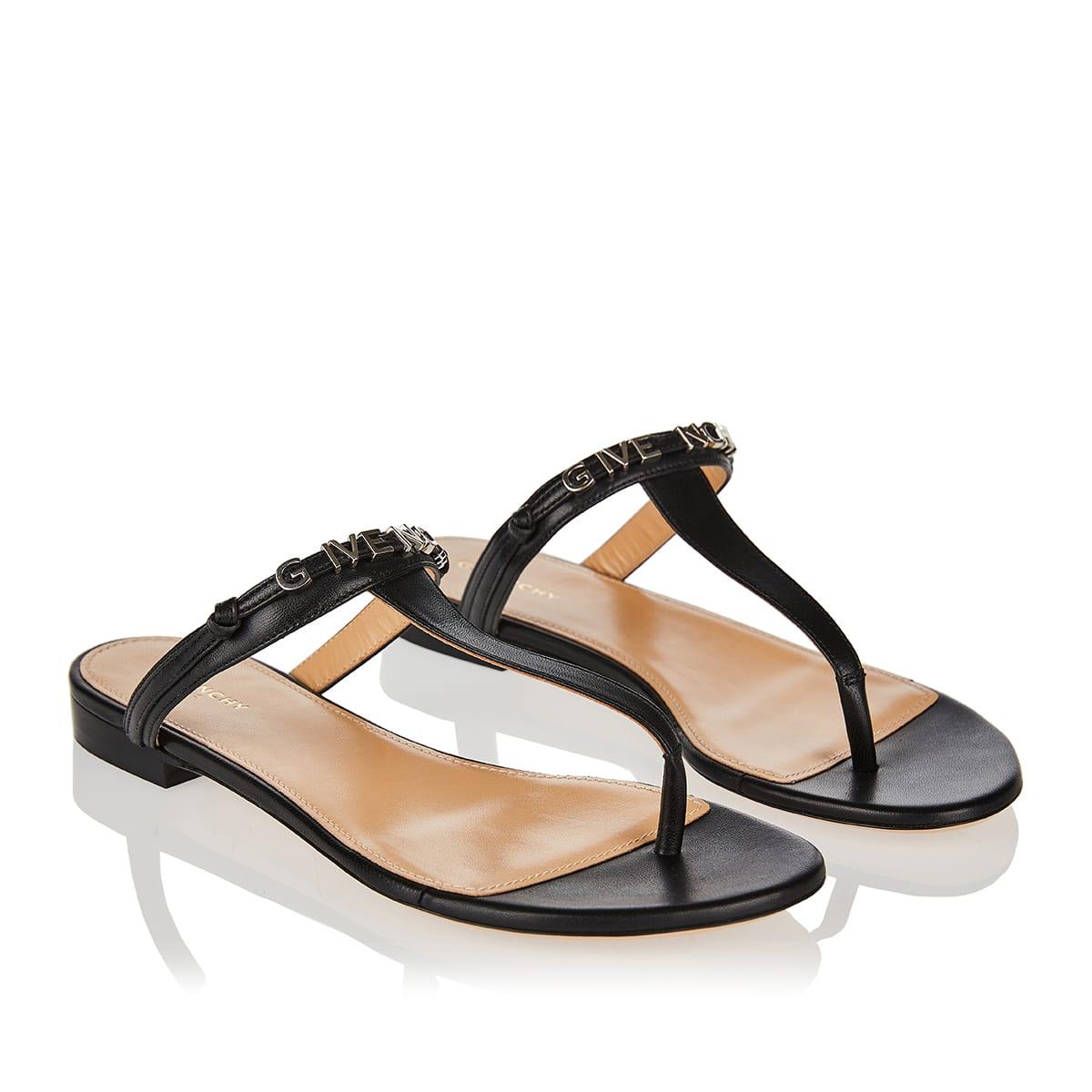 Elba logo thong sandals