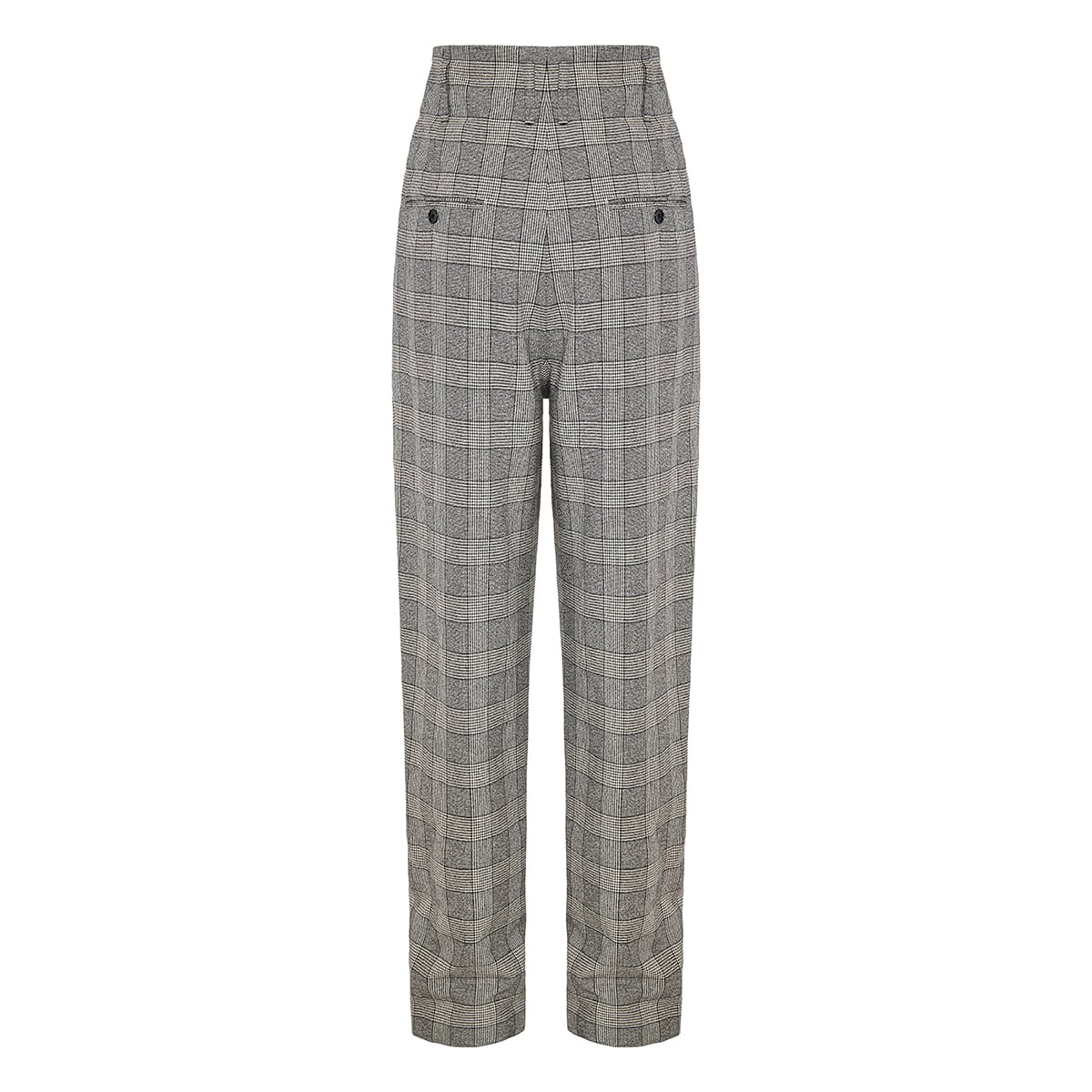 Checked tapered trousers