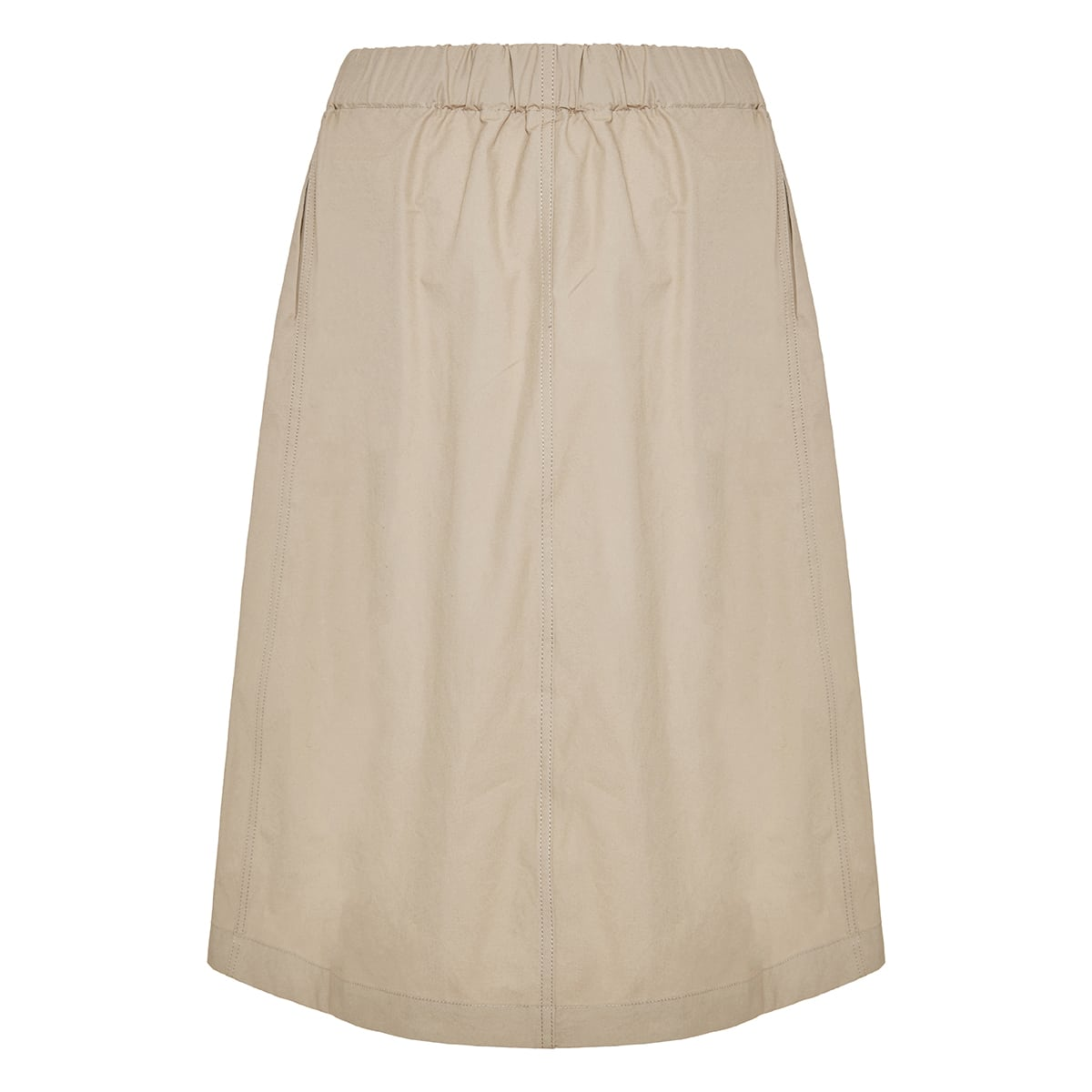 Belted cotton skirt