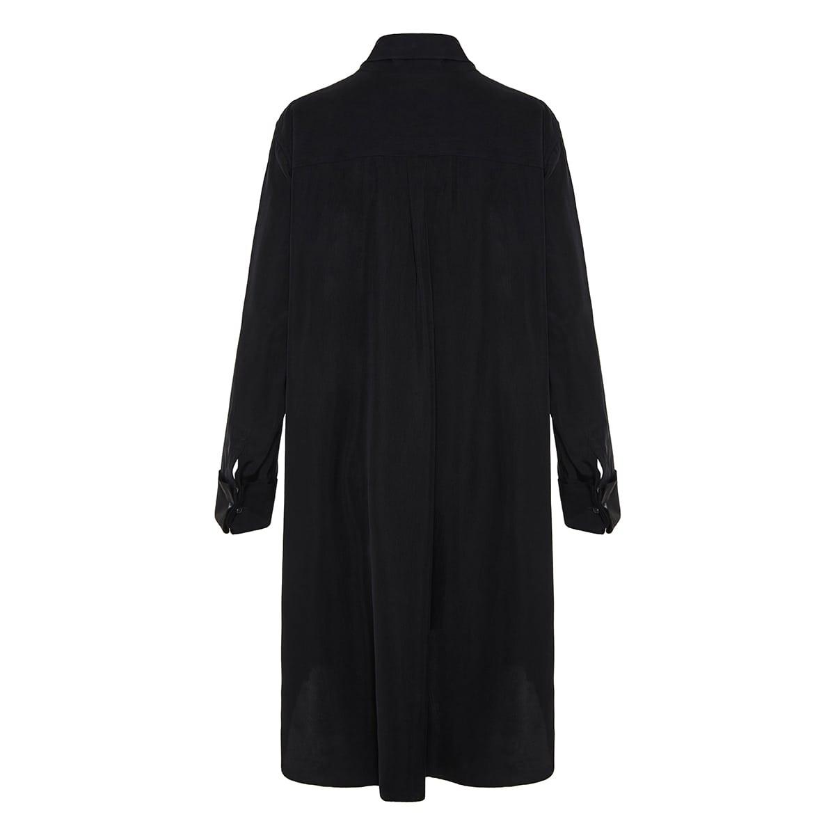 Anagram-scarf silk mini dress